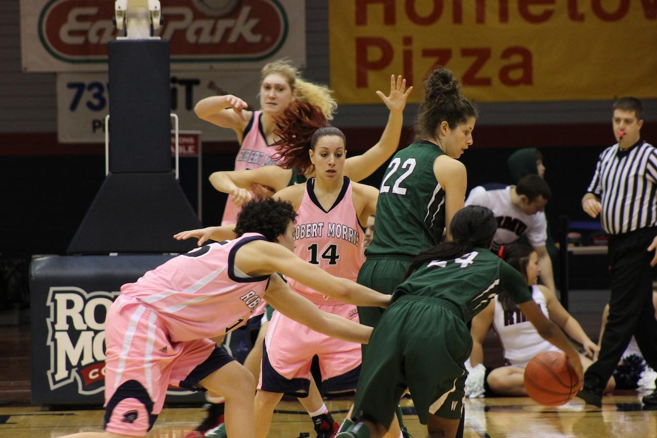 RMU women's basketball team defeat Wagner, 57-39