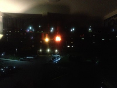 Fire department responds to dumpster fire behind Washington Hall
