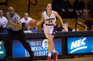 Navarro's breakout game pushes Robert Morris past Sacred Heart