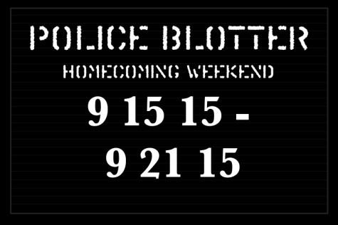 Police Blotter 9/15/15-9/21/15