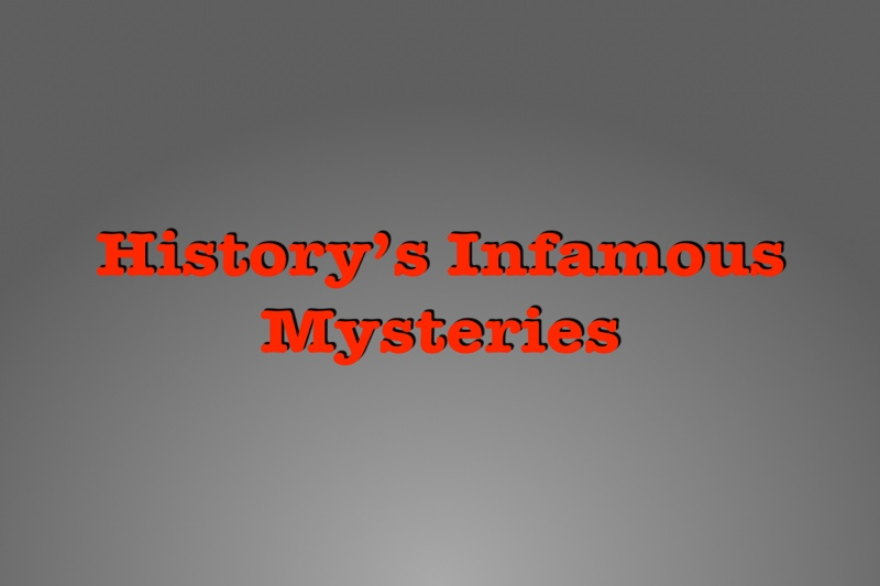 Five infamous unsolved murders