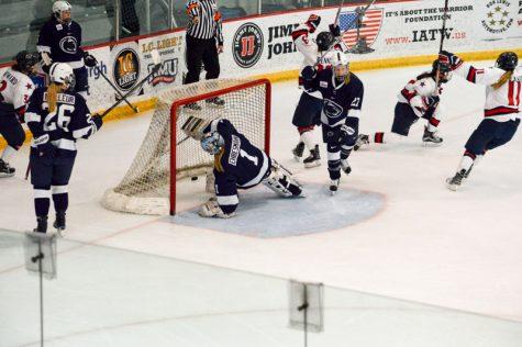 Colonials clinch conference tournament birth in runaway victory
