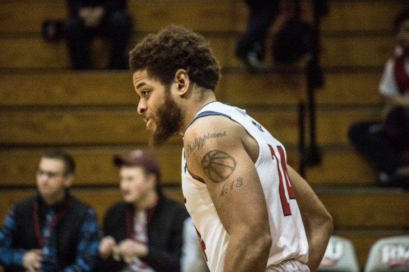 Aaron+Tate%27s+double-double+performance+wasn%27t+enough+as+the+Colonials+fell+short+at+Bryant.