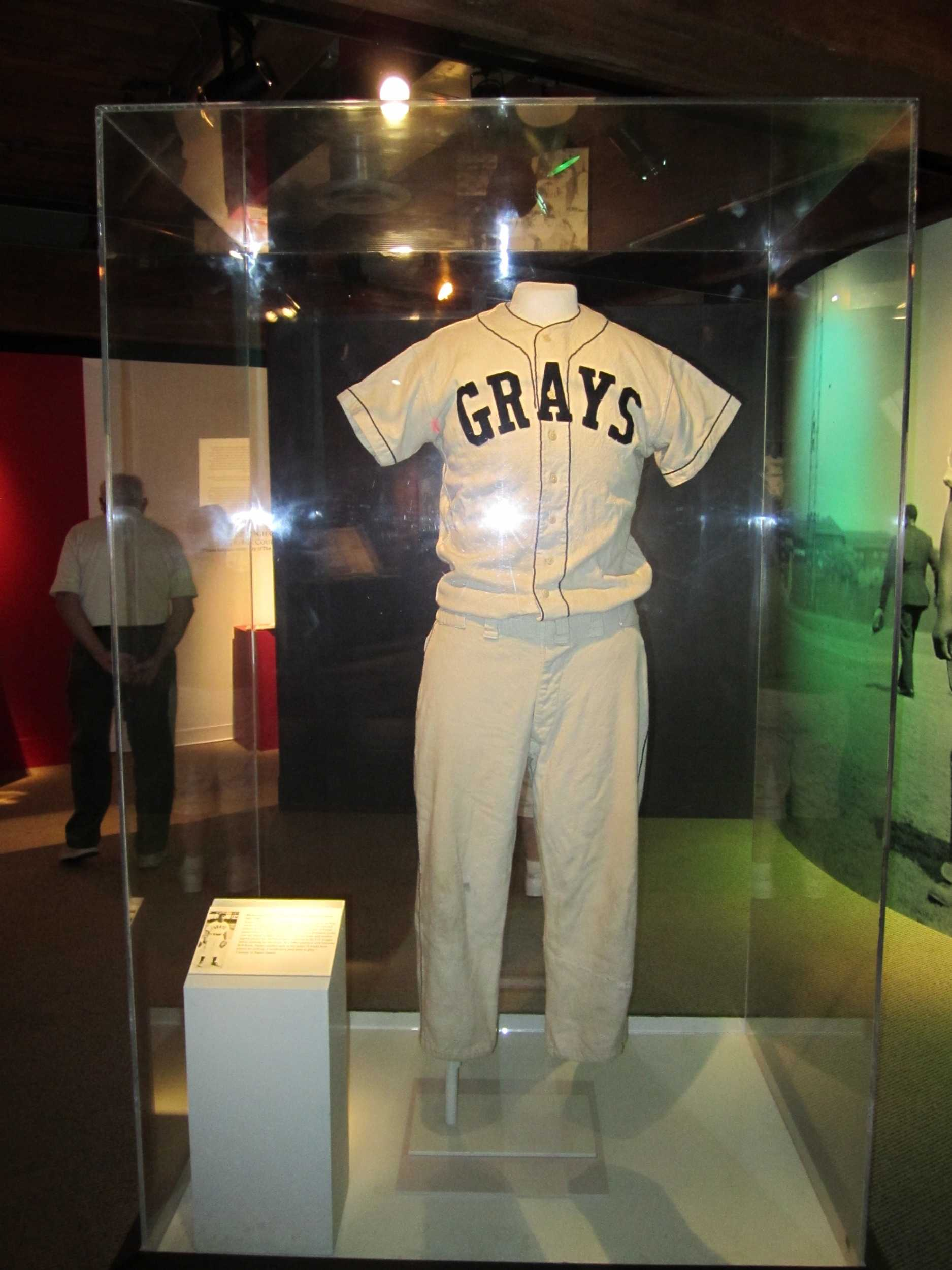 Uniform on display at the Senator John Heinz History Center