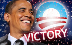 President Barack Obama re-elected President of the United States