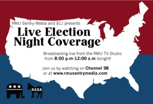 RMU Live Election Night coverage begins at 8 p.m.