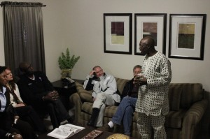 RMU community gathers to welcome Blessing Adeoy