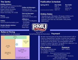 2013 Spring RMU Sentry Media Rate Card