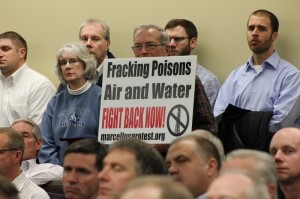 Local residents speak out against airport fracking