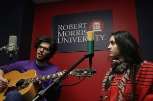 Radio jam session, Mountain of Leopards on campus