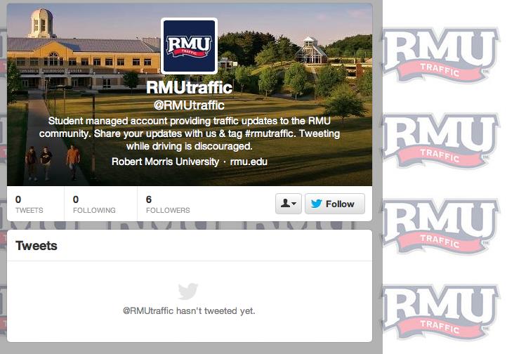 RMU+communication+students+launch+new+Twitter+account%3A+%40RMUTraffic
