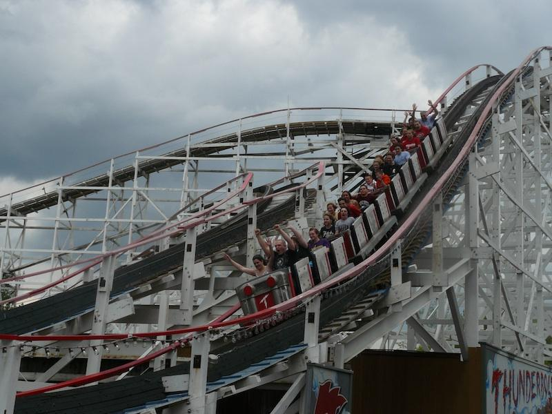 The Thunderbolt opened at Kennywood Park in 1968.