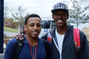 Two students at De La Gente.