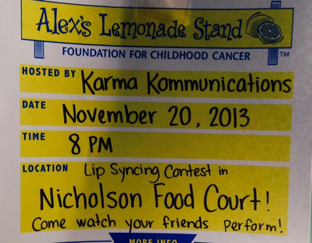 Karma Kommunications brings Alex's Lemonade Stand to RMU