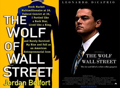 Movie posters for The Wolf of Wall Street.