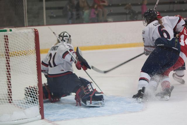 The Colonials and Lakers skated to a 4-4 tie Saturday afternoon.