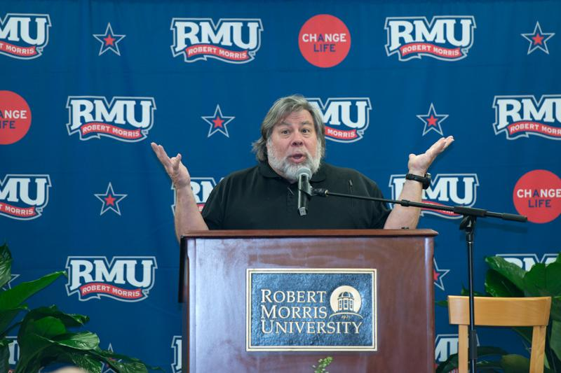 Apple Co-Founder Steve Wozniak visits RMU