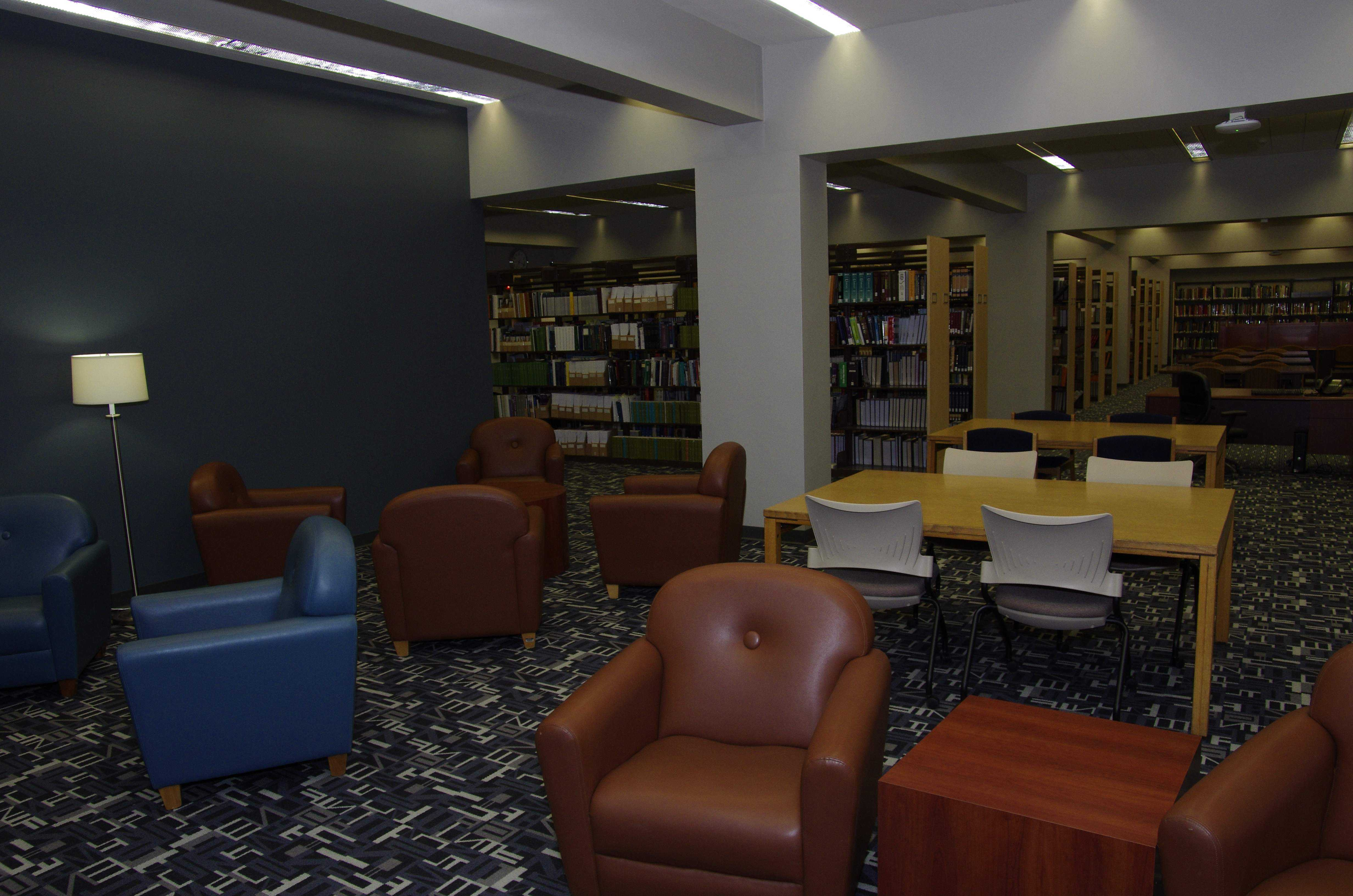 The library underwent a complete renovation over winter break to make it more attractive to students.