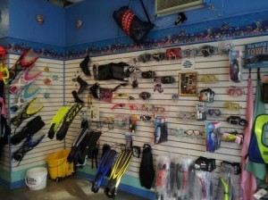 A wide variety of scuba gear is available at Joe's Scuba Shack. Photos by Haley Sawyer.