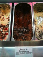 """Along with ice cream, The Confectionery is known for its locally produced Gelato. Brought in weekly from Kittanning, flavors like Death By Chocolate are a """"must have"""" in the shop."""