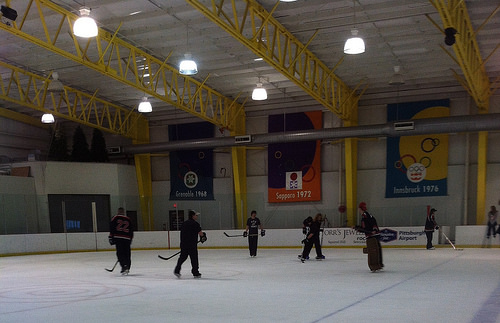 RMU ACHA D-I hockey team thanks fans with open skate