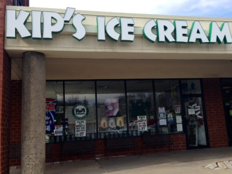 Kip's Ice Cream is located in the Thorn Run Shopping Plaza
