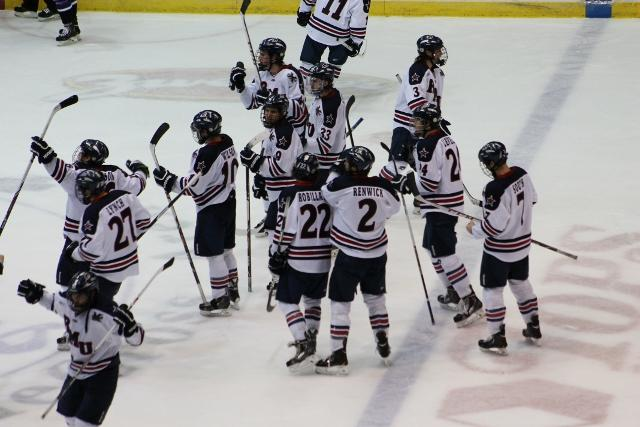 Robert+Morris+upset+no.+11+Ohio+State+Friday+evening+beating+the+Buckeyes+goalies+6+times.