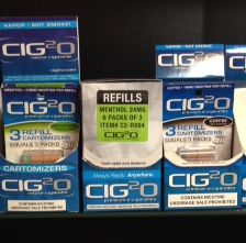 Electronic cigarettes and refill packages