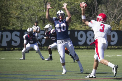 Stojkovic at OLB in 2013 against Dayton