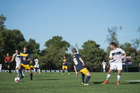 RMU Men's Soccer versus Canisius. Colonials lost 1-0 in a hard fought game.