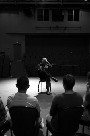 Sean Tyrrell, Irish singer, preformed on the Massey stage Friday evening.