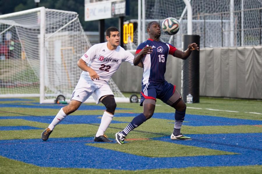 RMU+Men%27s+Soccer+ended+their+weekend+on+a+high+note+defeating+Bowling+Green.
