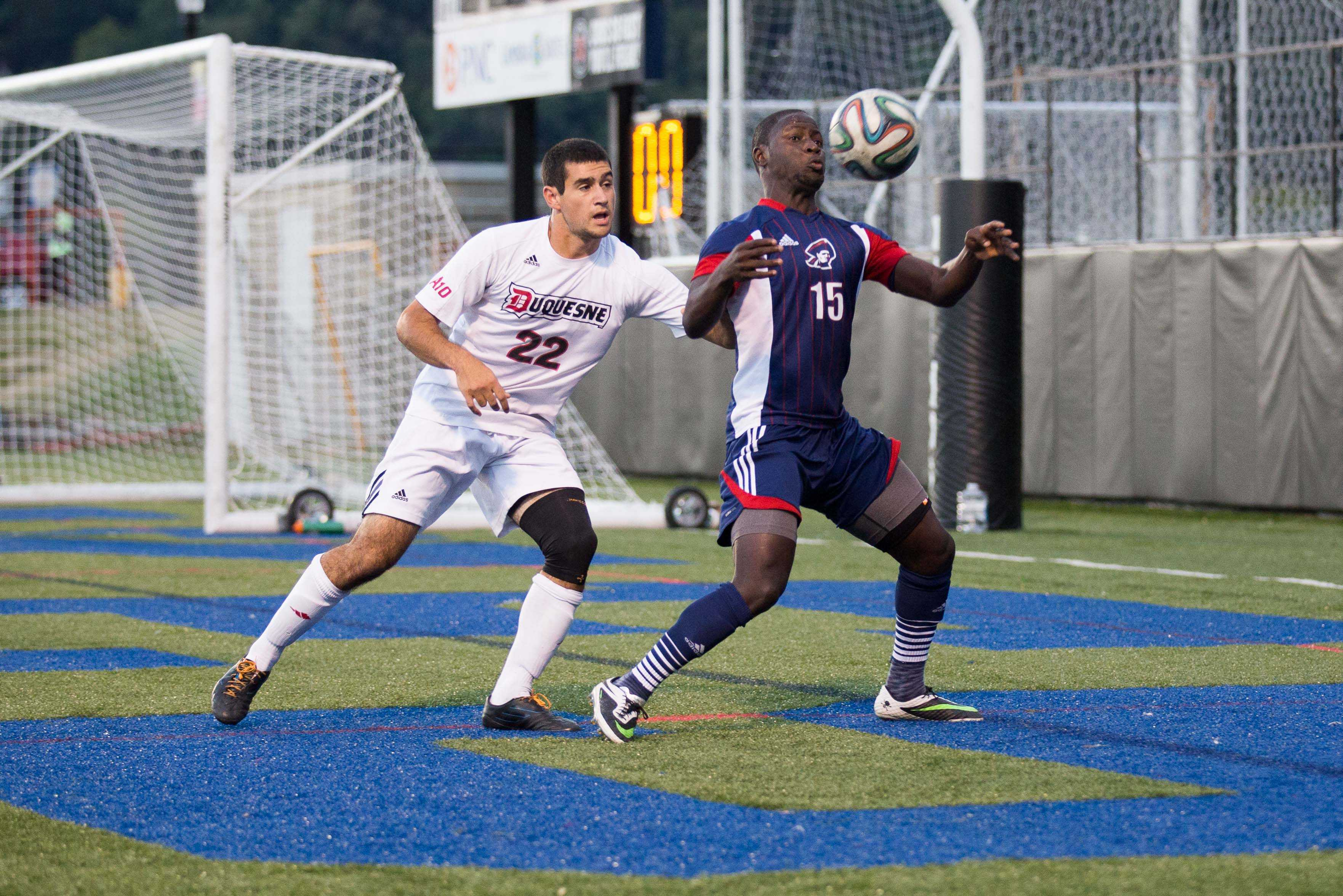 RMU defeated the terriers in double-overtime Sunday afternoon via a Neco Brett goal.