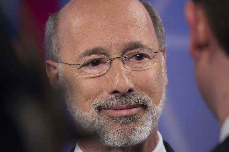 Tom+Wolf++after+his+debate+with+incumbent+governor+Tom+Corbett.+