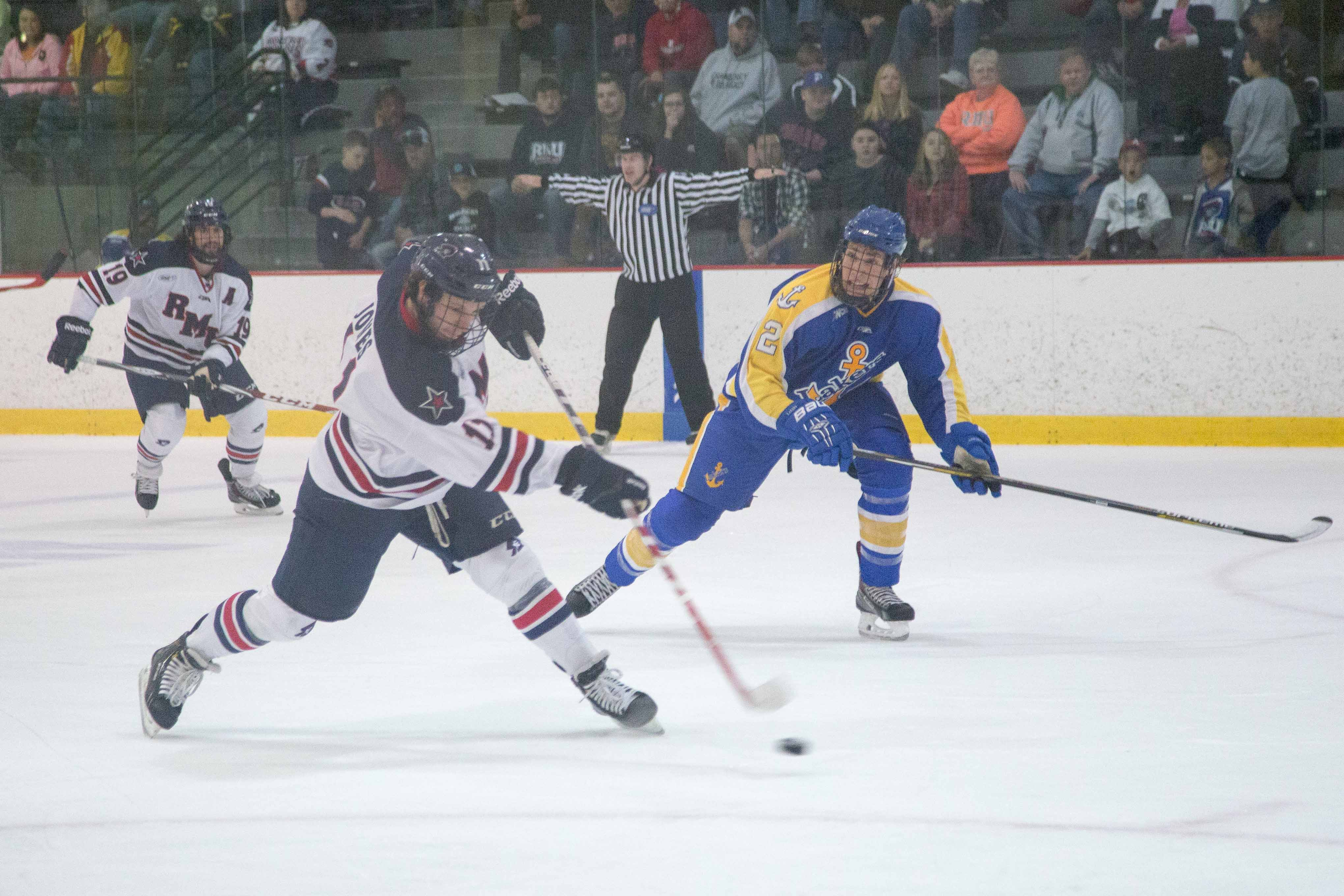 Robert Morris battled Michigan Friday night on the road in Ann Arbor, Michigan.
