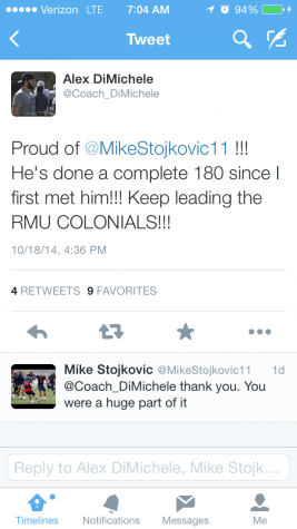 Defensive assistant and former All-American LB Alex DiMichele's tweet regarding Stojkovic after the game