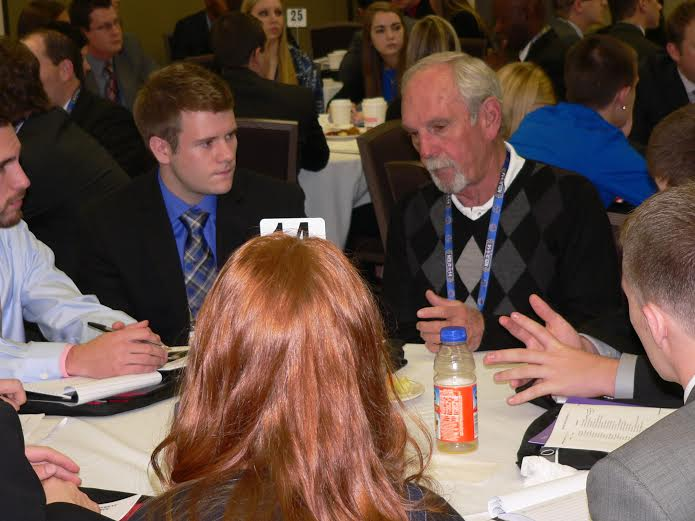 Former Major League Manager Jim Leyland gives attendees coaching advice during the 11th annual RMU Sport Management Conference.