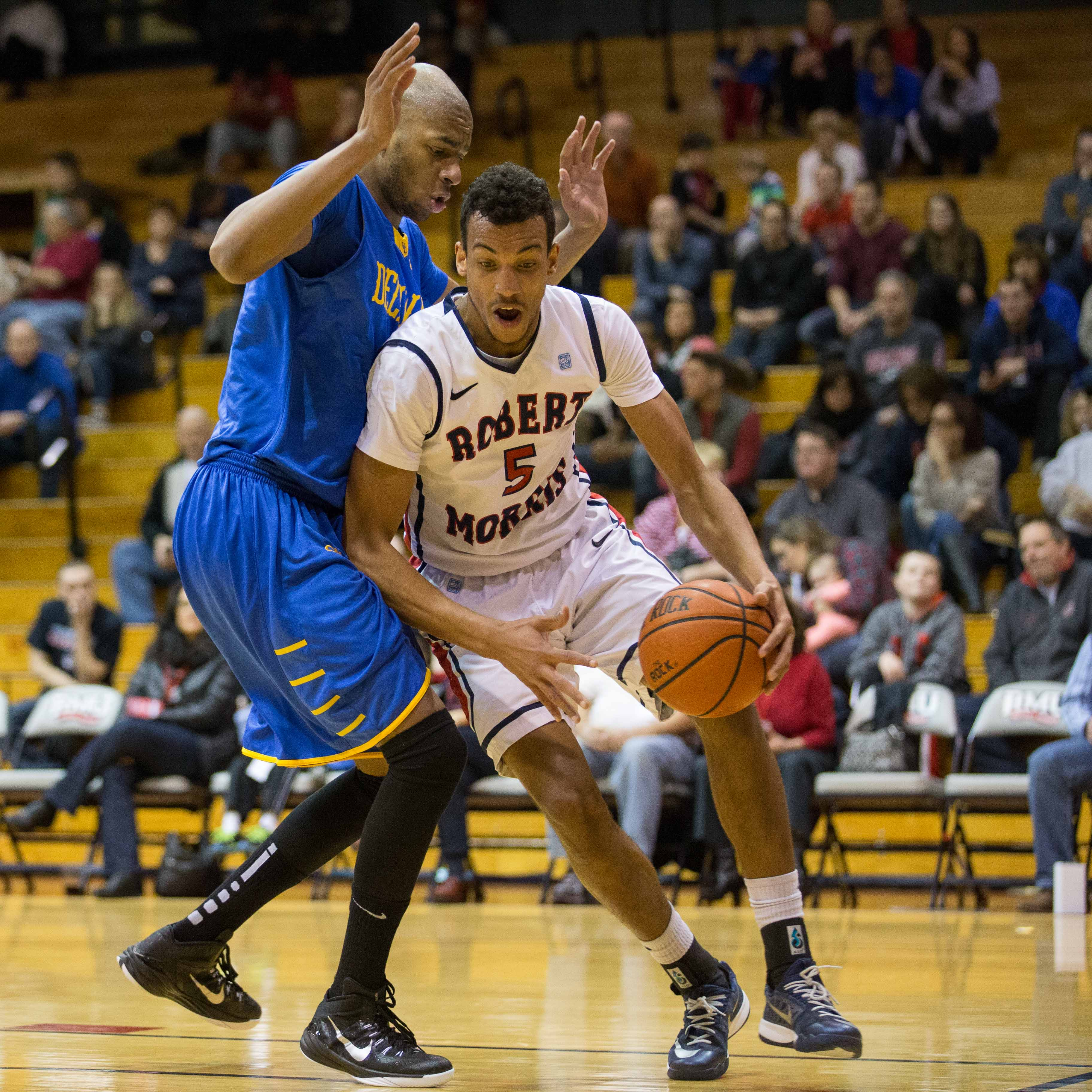 RMU sank 17 consecutive free throws in the second half en route to its 84-81 win over Delaware.