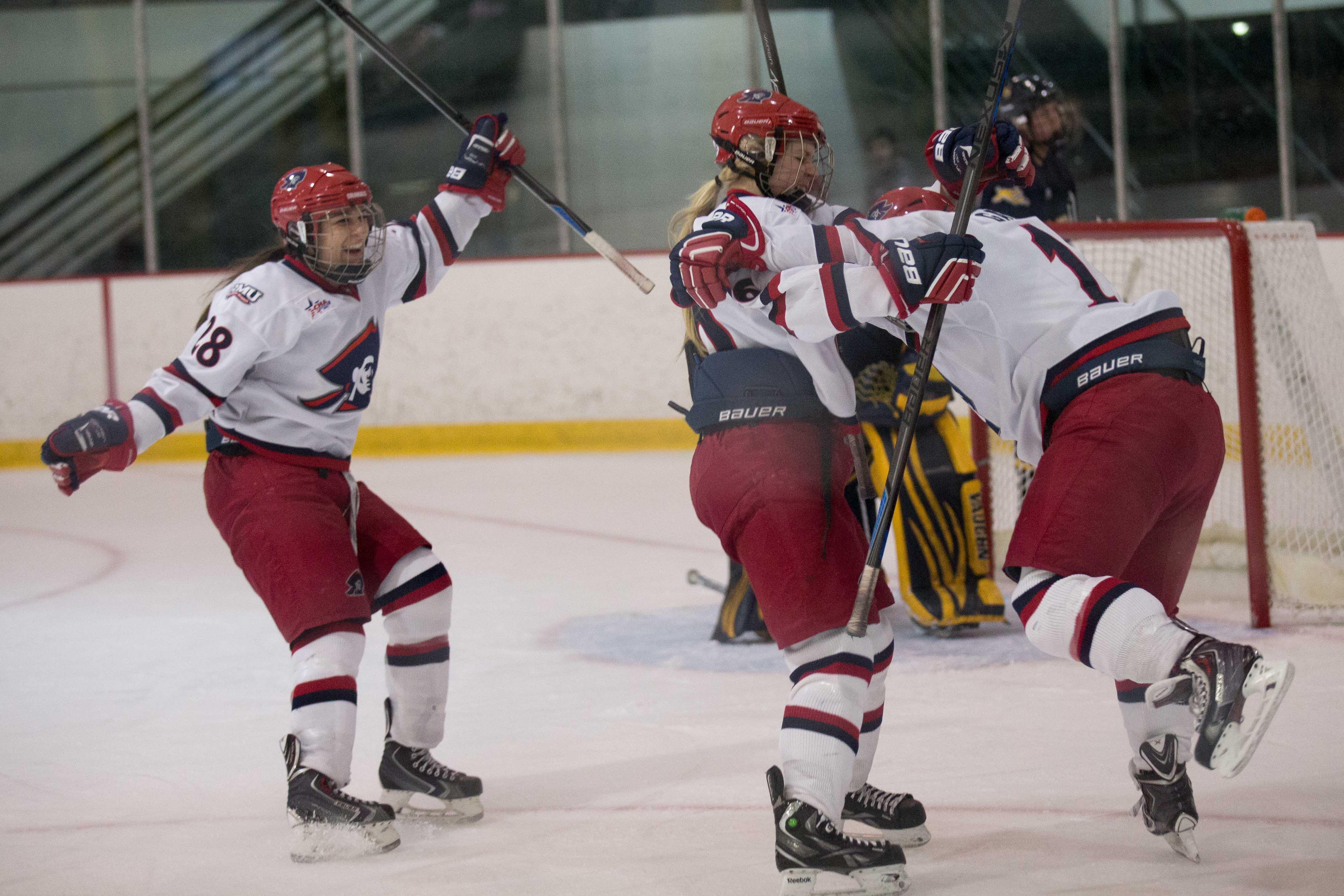 The RMU women's hockey team gets set to host its annual