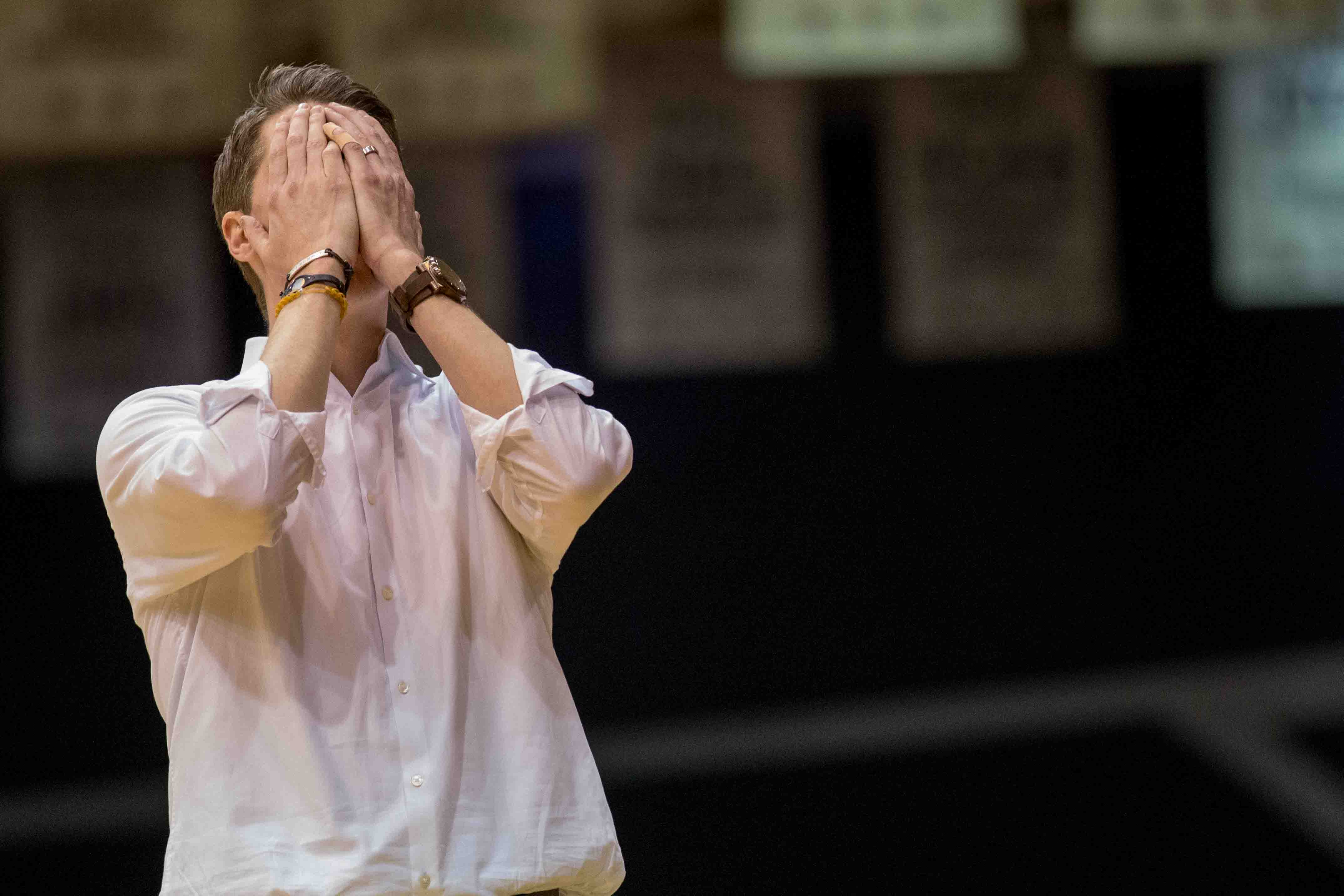 Andy Toole couldn't believe his eyes after RMU shot 65.4 percent from the floor in the first half and just 25 percent in the second, en route to dropping a one point decision to LIU.