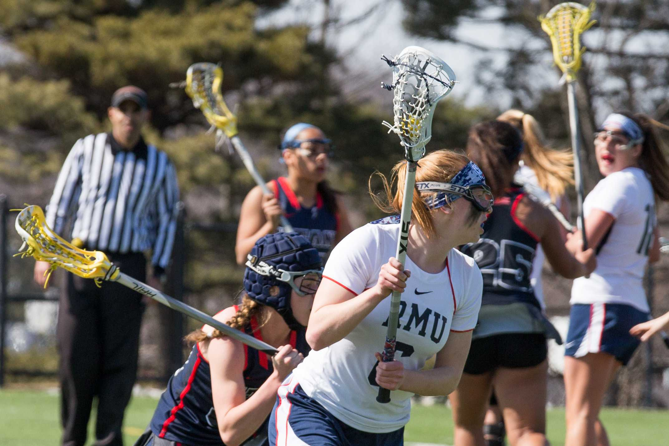 Dana Davis netted two goals against Detroit Friday but the Colonials fell one score short of the victory.