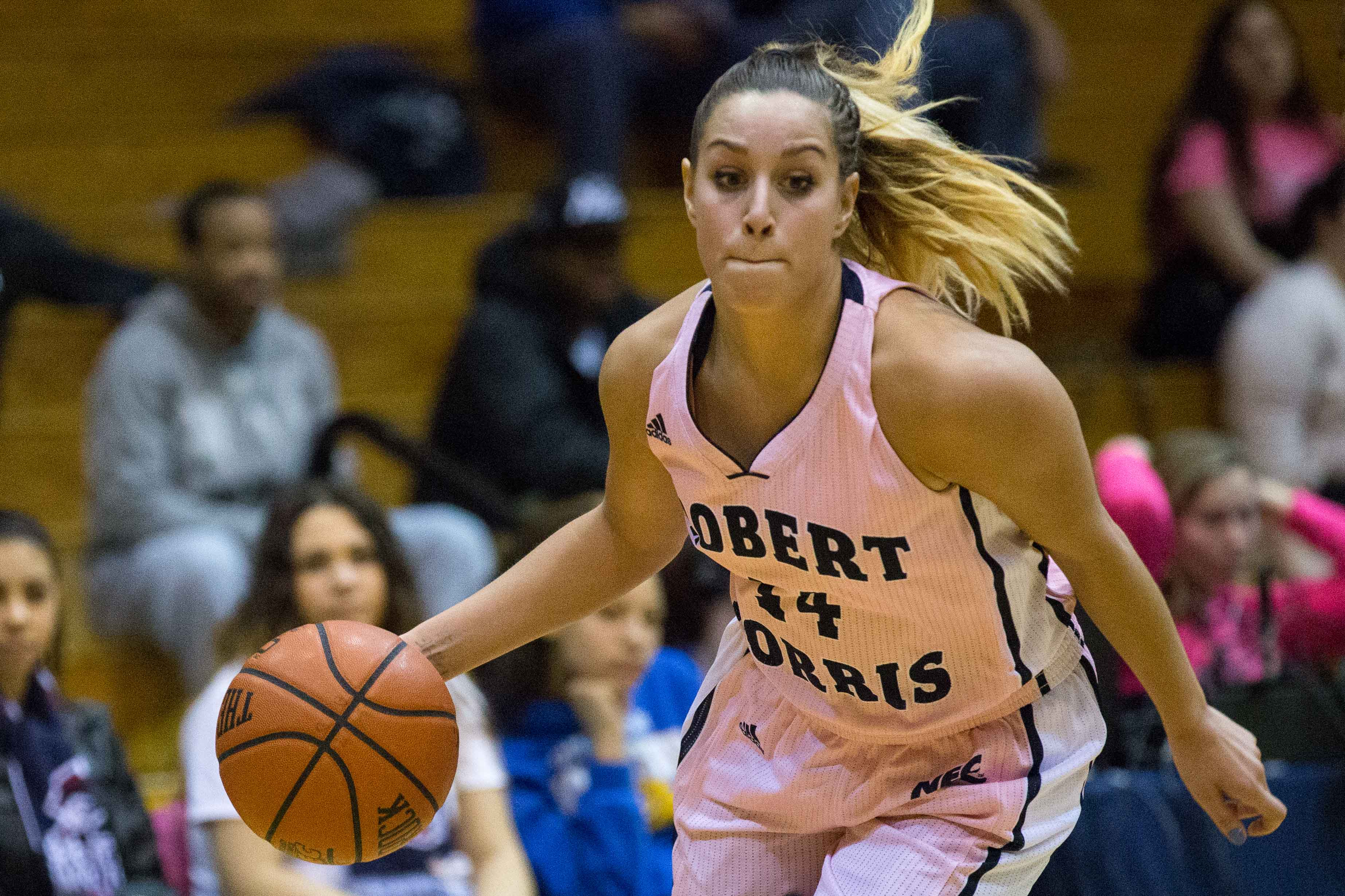 Ashley Ravelli recorded 18 points in Monday night's game against Sacred Heart on the road but the Colonials fell short 62-52