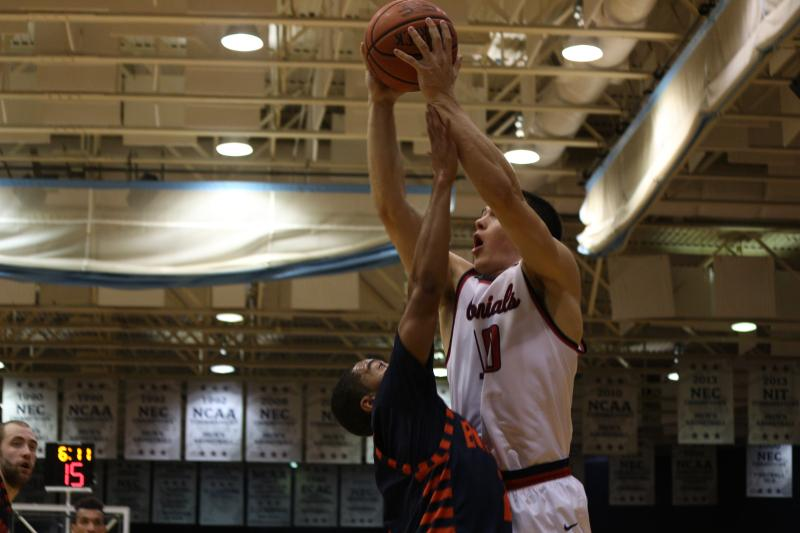 Matty McConnell's 12 point 10 rebound double-double was not enough as Robert Morris fell to Wagner on the road.