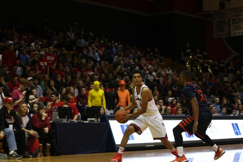Isaiah Still finished with a double-double Saturday helping the Colonials send the Terriers to the doghouse.