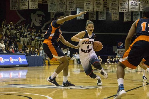 Anna Niki Stamolamprou's 16 point performance against Iowa Friday wasn't enough as the Colonials fell on the road.