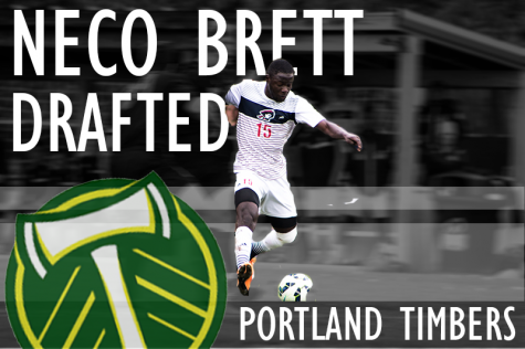 Neco Brett becomes second RMU player ever selected in the MLS Draft