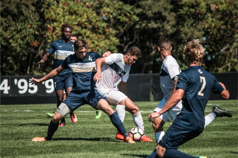 After Sunday's loss, the Colonials are still looking for their first conference win of the season.