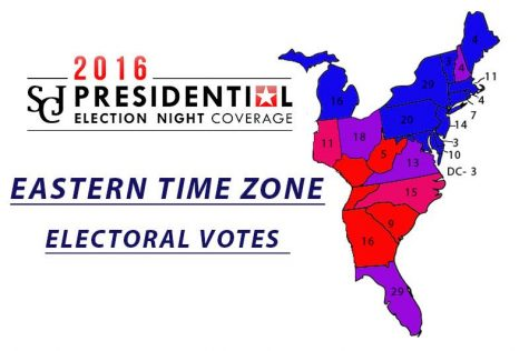 Eastern time zone projected electoral votes