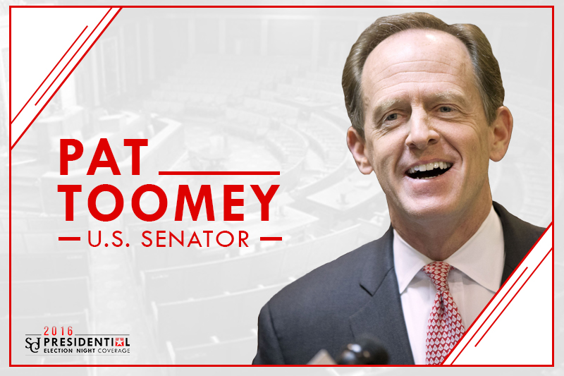 Pat Toomey won the 2016 U.S. Senate