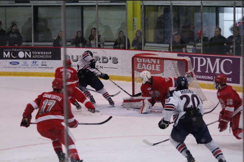 Robert Morris fought until the very end but dropped game one of the weekend against Bentley.